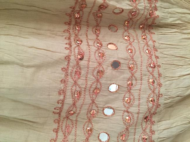 Free People short dress Light tan with rust colored stitching on Tradesy