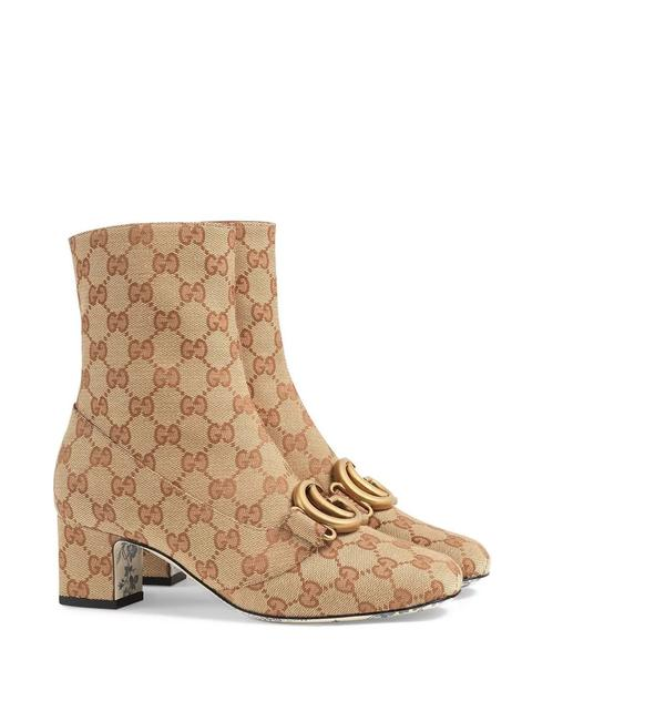 Item - Beige Marmont Gg Canvas Ankle Boots/Booties Size EU 39 (Approx. US 9) Regular (M, B)