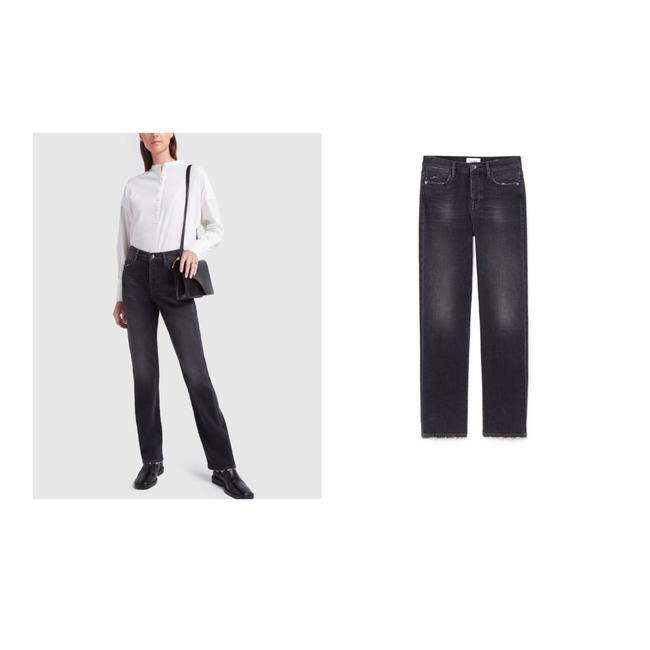 Item - Black Washed Dark Rinse Le Hollywood High Jeans/Sz:29/Nwt Straight Leg Jeans Size 8 (M, 29, 30)
