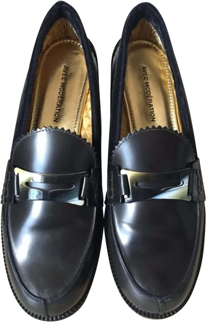 Item - Black Frida Anthracite Leather Penny Loafers Flats Size EU 38 (Approx. US 8) Regular (M, B)