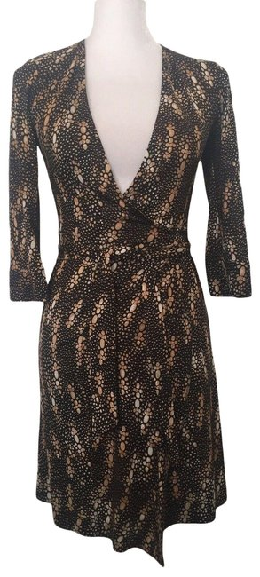 Item - Black/Gold Julian Short Casual Dress Size 0 (XS)