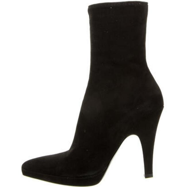 Item - Black Suede Pointed Boots/Booties Size US 7.5 Regular (M, B)
