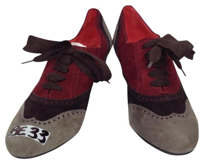Item - Gray/Burgundy/Brown Womens Lucia Mary Janes Boots/Booties Size EU 38 (Approx. US 8) Regular (M, B)