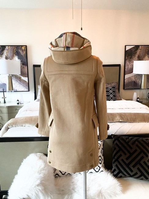 Burberry Brit Tan Wool Finsdale Toggle Hooded Coat Size 2 (XS) Burberry Brit Tan Wool Finsdale Toggle Hooded Coat Size 2 (XS) Image 3