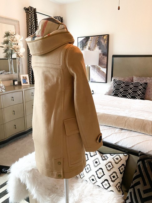 Burberry Brit Tan Wool Finsdale Toggle Hooded Coat Size 2 (XS) Burberry Brit Tan Wool Finsdale Toggle Hooded Coat Size 2 (XS) Image 4