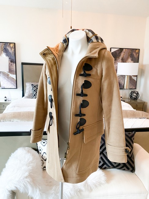 Burberry Brit Tan Wool Finsdale Toggle Hooded Coat Size 2 (XS) Burberry Brit Tan Wool Finsdale Toggle Hooded Coat Size 2 (XS) Image 5