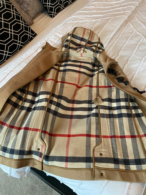 Burberry Brit Tan Wool Finsdale Toggle Hooded Coat Size 2 (XS) Burberry Brit Tan Wool Finsdale Toggle Hooded Coat Size 2 (XS) Image 6