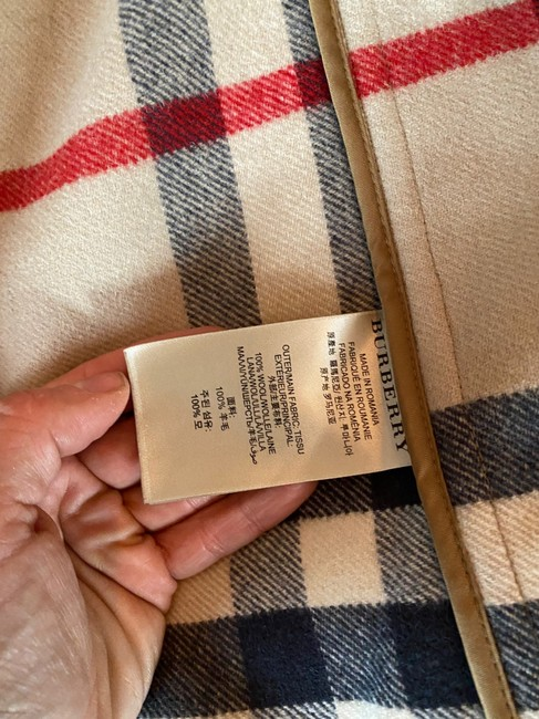 Burberry Brit Tan Wool Finsdale Toggle Hooded Coat Size 2 (XS) Burberry Brit Tan Wool Finsdale Toggle Hooded Coat Size 2 (XS) Image 7