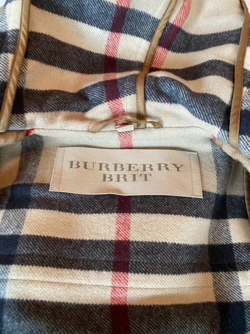 Burberry Brit Tan Wool Finsdale Toggle Hooded Coat Size 2 (XS) Burberry Brit Tan Wool Finsdale Toggle Hooded Coat Size 2 (XS) Image 9