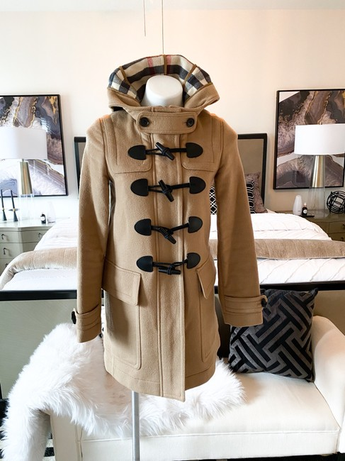 Burberry Brit Tan Wool Finsdale Toggle Hooded Coat Size 2 (XS) Burberry Brit Tan Wool Finsdale Toggle Hooded Coat Size 2 (XS) Image 10