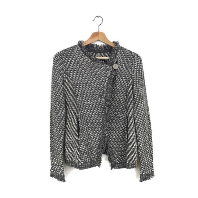 Anthropologie Gray White Angel Of The North Tipperary Blazer Size 0 (XS) Anthropologie Gray White Angel Of The North Tipperary Blazer Size 0 (XS) Image 4