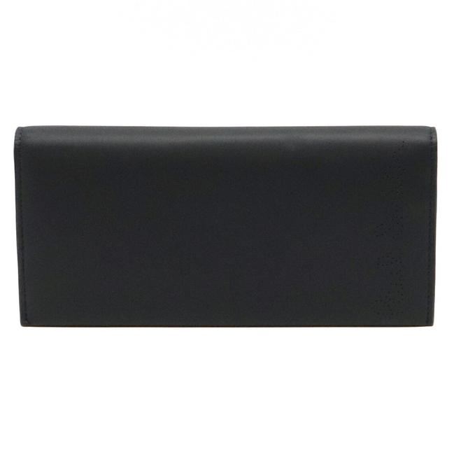 Item - Navy Receipt Story Perforated Punching Bi-fold Leather Pwd914 Wallet
