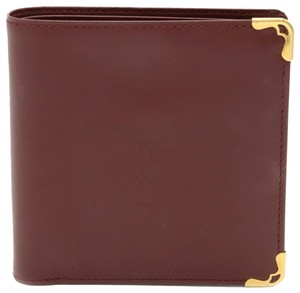 Cartier Cartier Mastline Mast de Bi-Fold Wallet Leather Bordeaux Gold Hardware L3000165