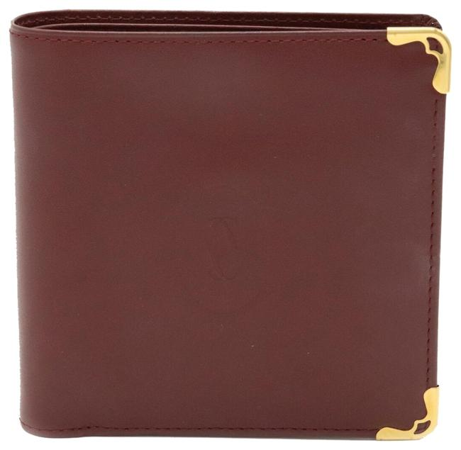 Item - Bordeaux / Gold Mastline Mast De Bi-fold Leather Hardware L3000165 Wallet