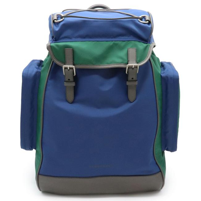Item - Casual Jack Rucksack Plaid Blue / Gray / Green Nylon / Leather Backpack