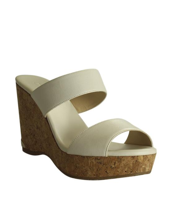 Item - White Parker Leather Corked 37.5 (191107) Wedges Size US 7.5 Regular (M, B)