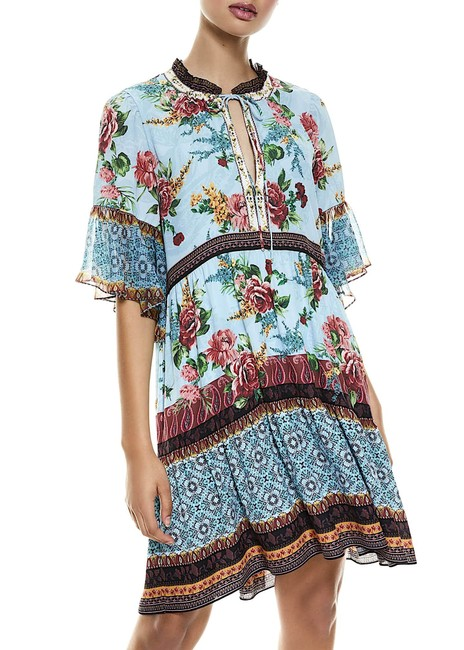 Item - Multi with Tag Glory Tiered Ruffle Tunic Mid-length Night Out Dress Size 2 (XS)
