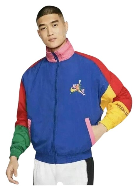 Item - Blue Red Yellow Green Multicolored Windbreaker Classic Men's Small Jacket Size 8 (M)