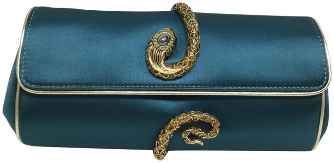 Item - Evening with Snake Teal Silk Clutch