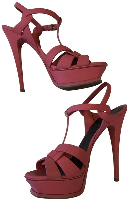 Item - Ysl Rose Claire Pink Leather Tribute Platforms Size EU 40.5 (Approx. US 10.5) Regular (M, B)