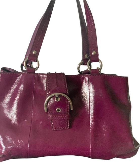 Item - Burgundy Patent Leather Tote