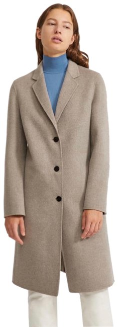 Item - Taupe Gray Single Breasted Wool Cashmere Coat Size 0 (XS)