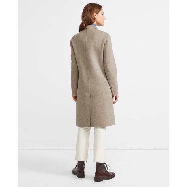 Theory Taupe Gray Single Breasted Wool Cashmere Coat Size 0 (XS) Theory Taupe Gray Single Breasted Wool Cashmere Coat Size 0 (XS) Image 2