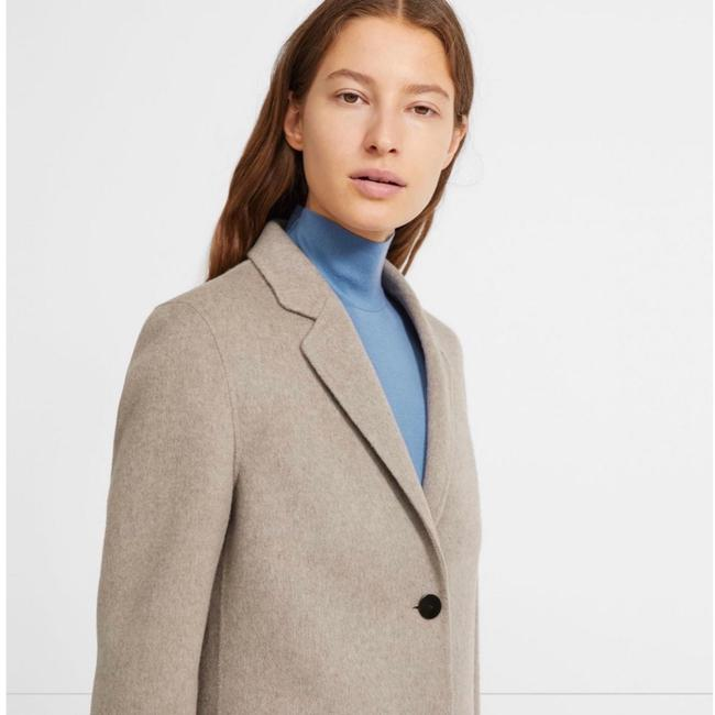 Theory Taupe Gray Single Breasted Wool Cashmere Coat Size 0 (XS) Theory Taupe Gray Single Breasted Wool Cashmere Coat Size 0 (XS) Image 3