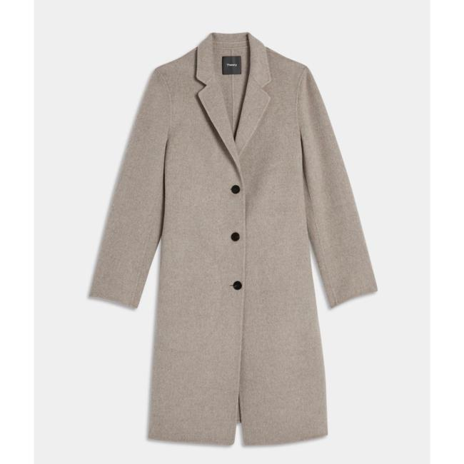 Theory Taupe Gray Single Breasted Wool Cashmere Coat Size 0 (XS) Theory Taupe Gray Single Breasted Wool Cashmere Coat Size 0 (XS) Image 4