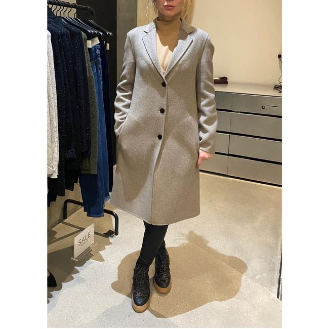 Theory Taupe Gray Single Breasted Wool Cashmere Coat Size 0 (XS) Theory Taupe Gray Single Breasted Wool Cashmere Coat Size 0 (XS) Image 5