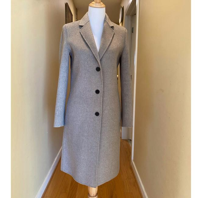 Theory Taupe Gray Single Breasted Wool Cashmere Coat Size 0 (XS) Theory Taupe Gray Single Breasted Wool Cashmere Coat Size 0 (XS) Image 6