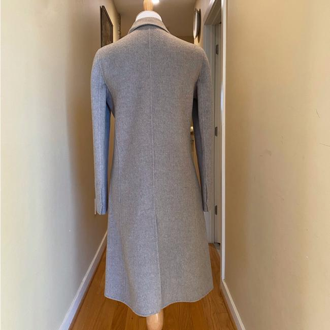 Theory Taupe Gray Single Breasted Wool Cashmere Coat Size 0 (XS) Theory Taupe Gray Single Breasted Wool Cashmere Coat Size 0 (XS) Image 7