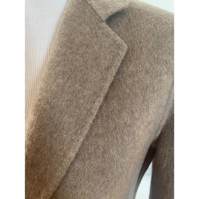Theory Taupe Gray Single Breasted Wool Cashmere Coat Size 0 (XS) Theory Taupe Gray Single Breasted Wool Cashmere Coat Size 0 (XS) Image 8