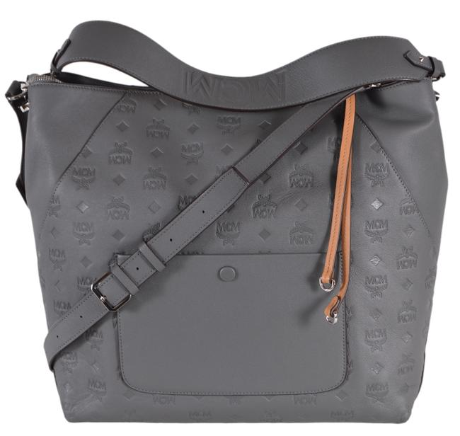 Item - Klara Visetos Purse Handbag Grey Leather Hobo Bag