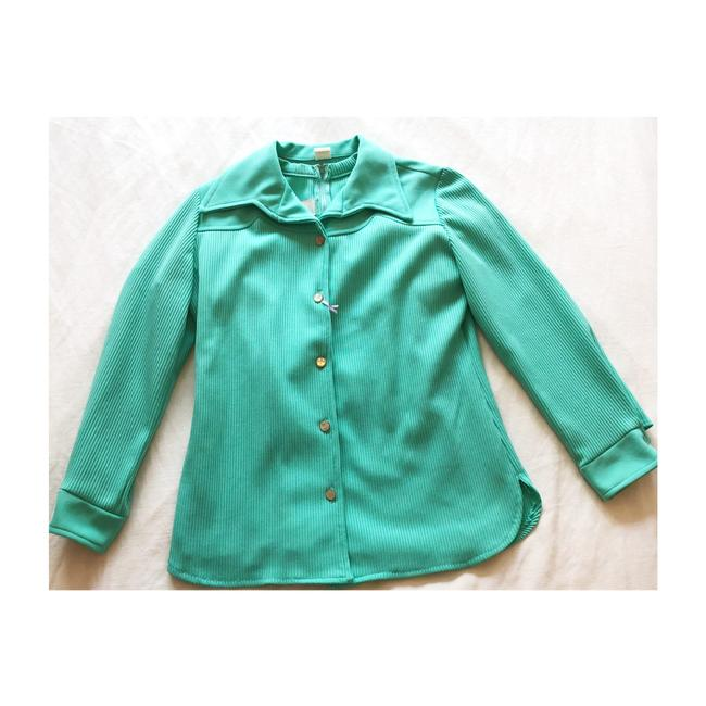 Item - Green Disco Collar Tee Set Jacket Size 6 (S)