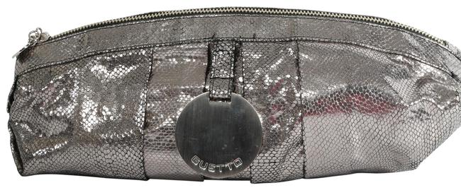 Item - Vintage Metallic Pebbled Pouch Silver Leather Clutch