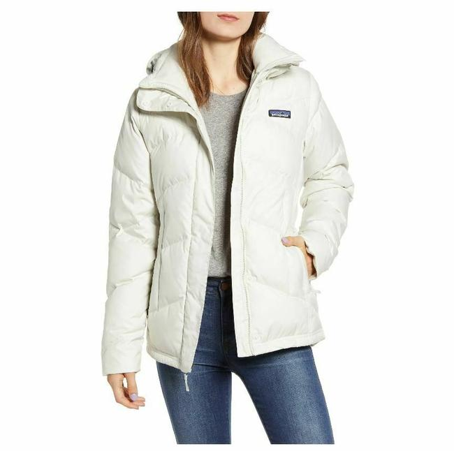 Item - White Down with It Hooded Down Jacket Women's Dyno Parka Coat Size 12 (L)