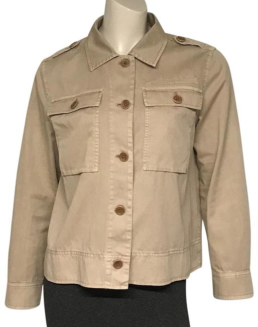 Item - Tan Cotton Jacket Size 8 (M)