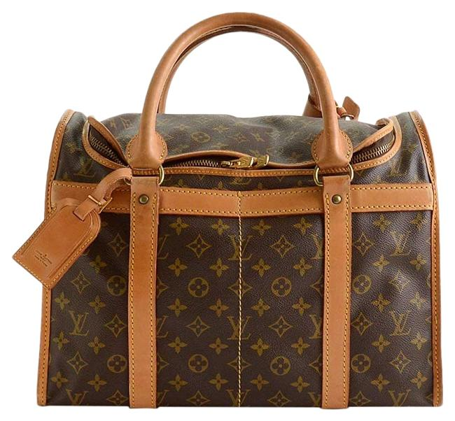 Item - Sac Chien Rdc11156- Lv Monogram 40 Dog Carrier Brown Coated Canvas/Cowhide Tote