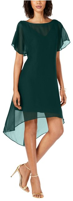 Adrianna Papell Hunter Chiffon-overlay A-line Mid-length Formal Dress Size 10 (M) Adrianna Papell Hunter Chiffon-overlay A-line Mid-length Formal Dress Size 10 (M) Image 1