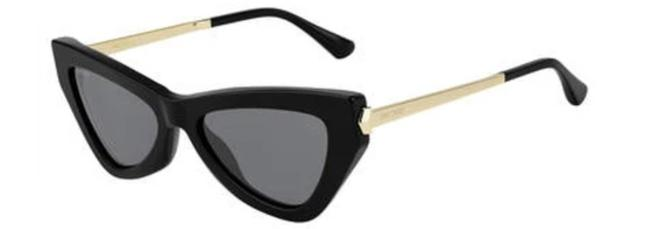 Item - Black Donnas Cat Eye with Gold Details Sunglasses