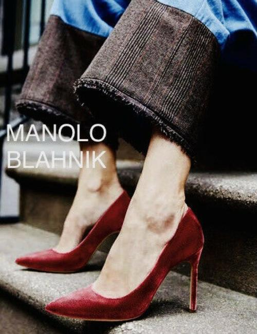 Manolo Blahnik Red Bb 90 Pointed Toe Pumps Size US 6.5 Regular (M, B) Manolo Blahnik Red Bb 90 Pointed Toe Pumps Size US 6.5 Regular (M, B) Image 1