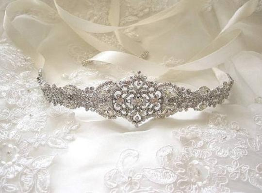 Preload https://item1.tradesy.com/images/other-tanya-wedding-sash-bridal-belt-rhinestone-sash-bridal-ribbon-sash-bridal-crystal-sash-bridal-accessories-vintage-art-deco-2819140-0-0.jpg?width=440&height=440