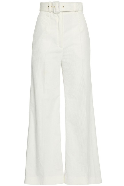 Item - Ivory King Wave Belted Pants Size 6 (S, 28)