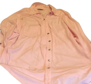 Michael Stars Button Down Shirt Pink
