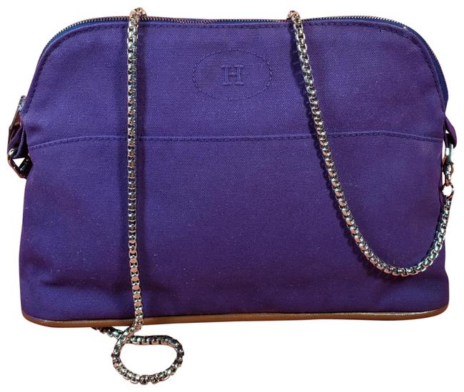 Item - Bolite Mini Pouch Purple & Brown Canvas Cross Body Bag