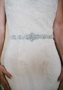 Bridal Vintage Inspired Belt Embellishment Crystal Applique Sash Art Deco 20's