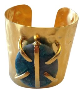 Other DEVON LEIGH AUTHENTIC NWT 18K GOLD PLATED CHRYSOCOLLA CUFF
