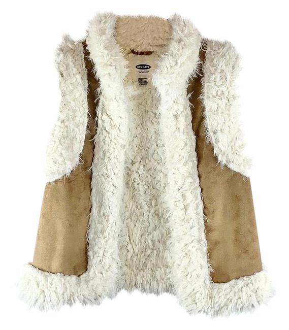 Item - Beige Cream Faux Shearling Fleece Furry Vest Size 2 (XS)