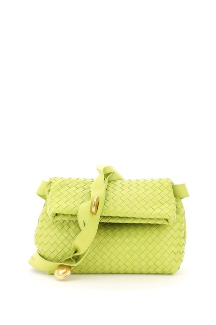 Item - Sn Small Fold Green/Yellow Leather Shoulder Bag
